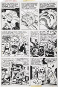 Original Comic Art:Panel Pages, Jack Kirby and John Verpoorten Captain America Annual #4,page 34 Original Art (Marvel, 1977)....