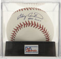 Autographs:Baseballs, Gary Carter Single Signed Baseball PSA Gem Mint 10....