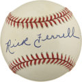 Autographs:Baseballs, Rick Ferrell Single Signed Baseball....