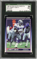 Football Cards:Singles (1970-Now), 1990 Score Supplemental Emmitt Smith #101T SGC 96 Mint 9....