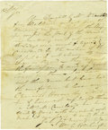 Autographs:Military Figures, Revolutionary War Patriot William A. Washington Autograph LetterSigned. ...