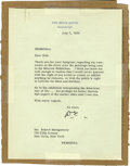 Autographs:U.S. Presidents, President Dwight Eisenhower Typed Letter Signed ...
