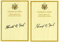 Autographs:U.S. Presidents, Gerald Ford Signed Bookplates. ... (Total: 2 Items)