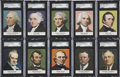 "Non-Sport Cards:General, 1960 Golden Press ""Presidents"" SGC-Graded Complete Set (33)...."