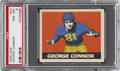 Football Cards:Singles (Pre-1950), 1948 Leaf George Connor #37 PSA NM-MT 8....