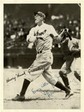 Autographs:Photos, Hank Greenberg Signed Photograph....