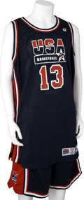 Basketball Collectibles:Uniforms, 1994 Shaquille O'Neal World Championships Game Worn CompleteUniform....