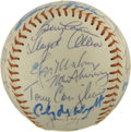 Autographs:Baseballs, 1971 California Angels Team Signed Baseball....