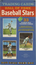 Baseball Cards:Sets, 1961 Golden Press Baseball Complete Set in Book (33). The 1961Golden Press set features 33 players, all enshrined in the Ba...