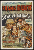 "Movie Posters:Adventure, Jungle Menace (Columbia, 1937). One Sheet (27"" X 41"") Chapter 1 --""River Pirates."" Adventure. Starring Frank Buck, Sasha S..."