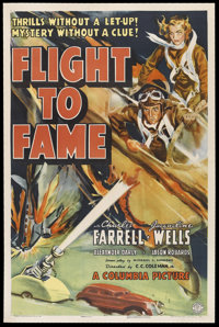 "Flight to Fame (Columbia, 1938). One Sheet (27"" X 41""). Action. Starring Charles Farrell, Jacqueline Wells, Al..."