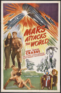 "Movie Posters:Science Fiction, Mars Attacks the World (FilmCraft, R-1950). One Sheet (27"" X 41"").Science Fiction. Starring Buster Crabbe, Jean Rogers, Cha..."