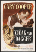 "Movie Posters:Thriller, Cloak and Dagger (Warner Brothers, 1946). One Sheet (27"" X 41""). Thriller. Starring Gary Cooper, Lilli Palmer, Robert Alda, ..."