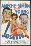 """Movie Posters:Comedy, Josette (20th Century Fox, 1938). One Sheet (27"""" X 41""""). Musical Comedy. Starring Don Ameche, Simone Simon, Robert Young, Be..."""