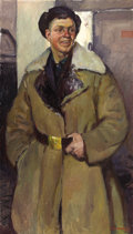 Fine Art - Painting, Russian:Contemporary (1950 to present), ALEXANDRE KHMILNITSKY (Russian, 1924). Portrait of a Driver, 1965. Oil on canvas. 52-1/2 x 30 inches (133.4 x 76.2 cm). ...