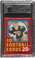 Football Cards:Lots, 1970 Topps Football Cello Pack GAI NM+ 7.5. ...