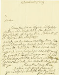 "Autographs:Non-American, Lord George Germaine Autograph Letter Signed. One page, 7.25"" x9.25"", Pall Mall, Oct. 15, 1773, to Lady Macartney,..."