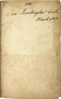 Autographs:Authors, Samuel Huntington Book Signed. The Royal Dictionary Abridged in Two Parts: French and English, by A. Boyer. London, [17...