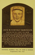 Autographs:Others, Circa 1970 Jackie Robinson Signed Gold Hall of Fame Plaque....