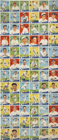 Baseball Cards:Lots, 1934 World Wide Gum Baseball Uncut Sheet of Seventy-Two Cards....