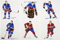 Hockey Collectibles:Others, 1962-63 H.M. Cowan/Screenart Tiles Lot of 6....