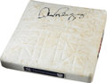 Baseball Collectibles:Others, 2008 Yankee Stadium Game Used First Base from Alex Rodriguez CareerHome Run #534....