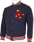 Baseball Collectibles:Uniforms, 1940's-50's Boston Red Sox Warm-Up Jacket....