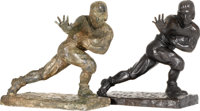 The Original Plaster Cast Maquette Used to Cast the Heisman Trophy, and the Last Bronze Trophy Produced from the Maquett...