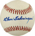 Autographs:Baseballs, Charlie Gehringer Single Signed Baseball. ...