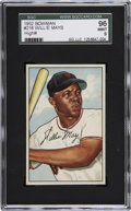 Baseball Cards:Singles (1950-1959), 1952 Bowman Willie Mays #218 SGC 96 Mint 9....