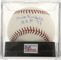 Autographs:Baseballs, Phil Niekro Single Signed Baseball PSA Gem Mint 10....