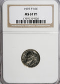 Roosevelt Dimes: , 1997-P 10C MS67 Full Bands NGC. NGC Census: (0/0). PCGS Population(11/2). Mintage: 991,640,000. (#85193)...