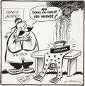 Original Comic Art:Comic Strip Art, Cy Hungerford Political Cartoon Original Art (PittsburghPost-Gazette, 1950)....