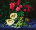 Fine Art - Painting, Russian:Contemporary (1950 to present), ALEXANDER NAZARENKO (Russian, 20th Century). Still life withHoneydew, 1985. Oil on canvas. 24-1/2 x 29-1/2 inches (62.2...