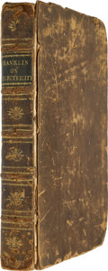 Books:Non-fiction, Benjamin Franklin. Experiments and Observations on Electricity, Made at Philadelphia in America. ...