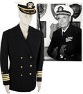 Movie/TV Memorabilia:Costumes, Glenn Ford's US Naval Reserve Dress Uniform Coat and Hat....