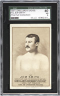 Boxing Cards:General, 1887 N269 Lorillard's #12 Jem Smith SGC 40 VG 3. ...