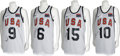 Basketball Collectibles:Uniforms, 2008 USA Olympic Basketball Team Practice Worn Jerseys Lot of 12,Signed....