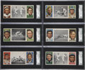 Baseball Cards:Lots, 1912 T202 Hassan Triple Folders SGC 80 EX/NM 6 Collection (6)....