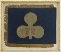 The Left General Guide Flag of the 72nd Pennsylvania Volunteer Infantry, Baxter's Philadelphia Fire Zouaves