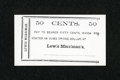 Obsoletes By State:Ohio, (Kenton, OH)- Lewis Merriman's 50¢ circa 1860s. ...