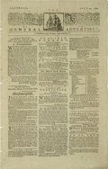 Autographs:Military Figures, Revolutionary War Newspaper,...