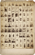 Boxing Cards:General, 1880's Imperial Cabinet Contact Sheet with Pugilist John L.Sullivan....