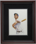 "Baseball Collectibles:Others, 1985 Ted Williams ""Sluggers of the Hall of Fame"" Original Artworkby Dick Perez...."