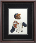 "Baseball Collectibles:Others, 1985 Frank Robinson ""Sluggers of the Hall of Fame"" Original Artworkby Dick Perez...."