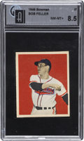 Baseball Cards:Singles (1940-1949), 1949 Bowman Bob Feller #27 GAI NM- MT 8.5....