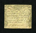Colonial Notes:Massachusetts, Massachusetts October 18, 1776 8d Very Fine-Extremely Fine....