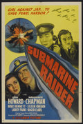"Movie Posters:War, Submarine Raider (Columbia, 1942). One Sheet (27"" X 41""). War...."