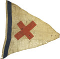 Military & Patriotic:Civil War, Regulation Civil War 6th Corps Brigade flag of General Emory Upton's Brigade as Used at the Battles of The Wilderness and Spot...