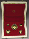 Colombia: , Colombia: Republic, Five Piece Gold Proof Set, InternationalEucharistic Congress, 1968, KMPS1 including 100 Pesos, KM231,Choice Proof, 2... (Total: 5 Coins Item)